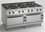 Cucina potenziata a Gas 8 fuochi / Doppio Forno a Gas  Serie 900